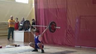 Маклаков Тимур,13 лет, вк 56 кг  Рывок 70 кг