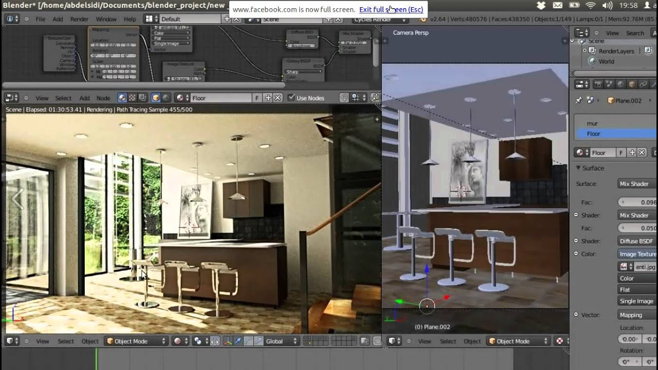 Architecture visulaisation in blender youtube for Video architecture
