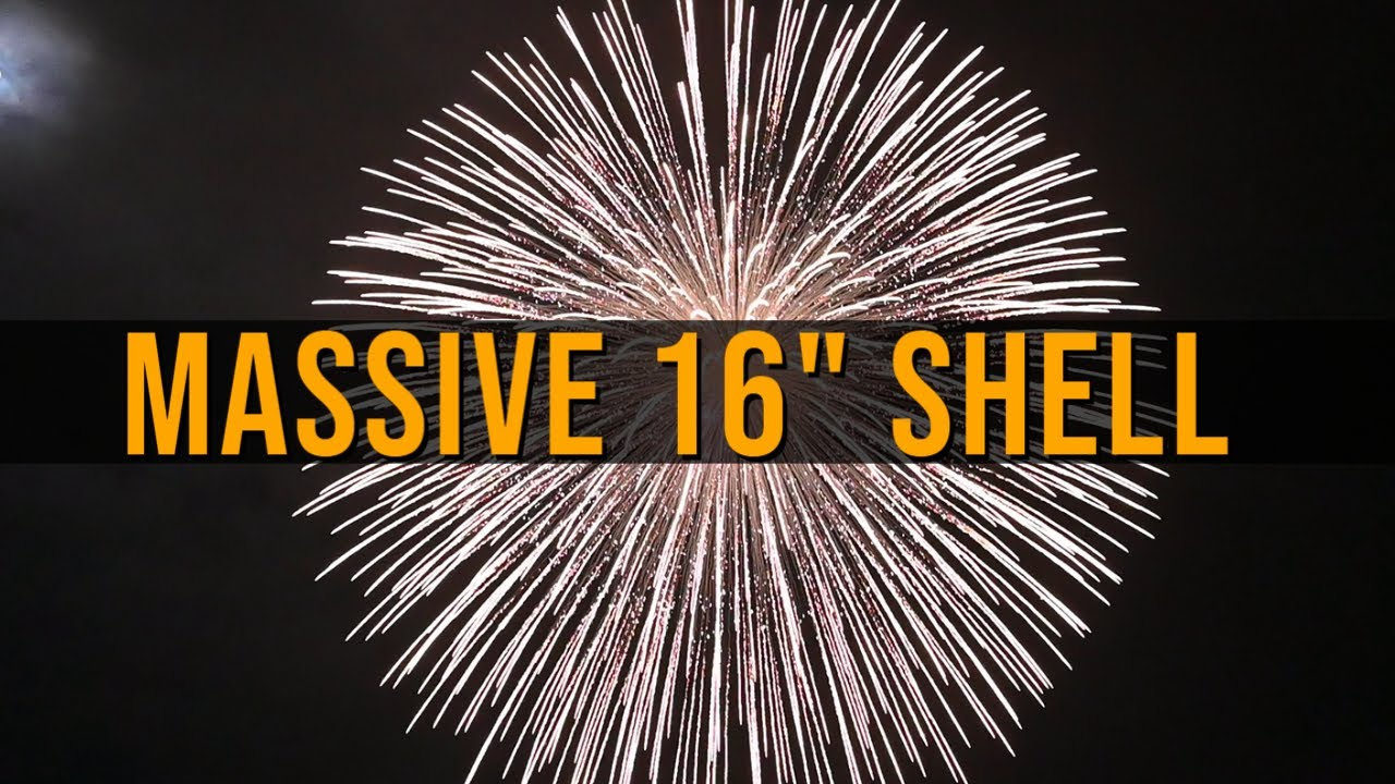 """HUGE 16"""" inch FIREWORKS shell 