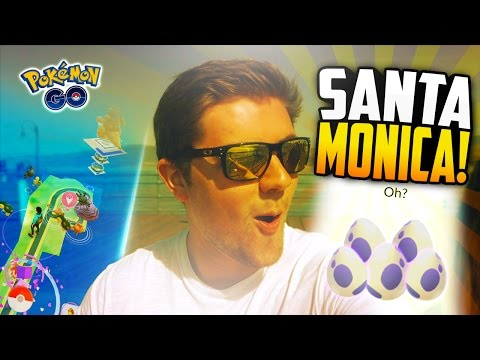 Pokemon Go - SANTA MONICA VLOG! (PART 1 - The PIER, 10k Eggs, and RARE Spawns!)