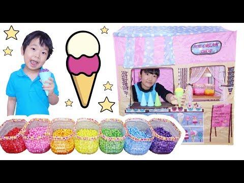 ★レインボーつぶつぶスライムアイスクリーム屋さん!★Rainbow slime ice cream★
