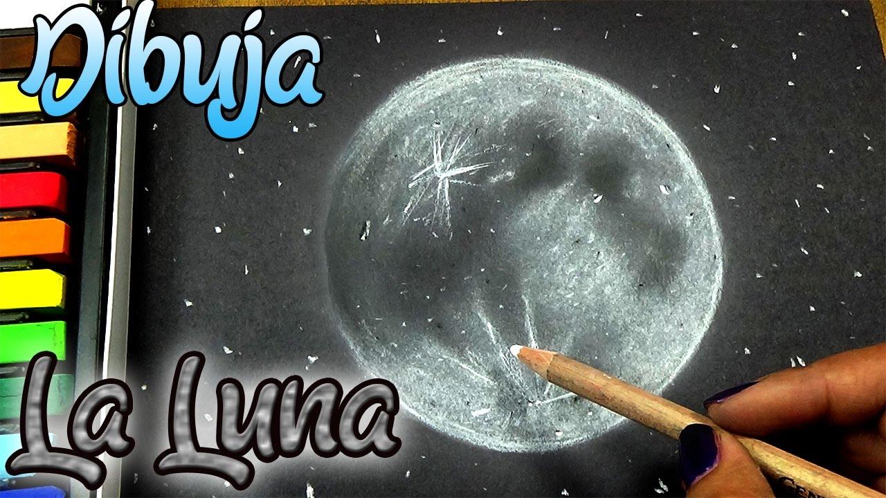 Como Dibujar FÁcil MÉtodo Para Principiantes Y Como: Como Dibujar La Luna, Método Fácil Y Rápido (Principiantes