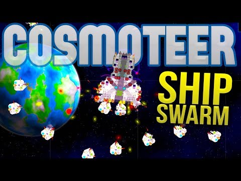 Cosmoteer - Building A Ship Fleet! - Tiny Ships vs Big Ships - Cosmoteer Gameplay Highlights