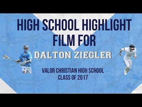 High School Lacrosse Highlights 2014 of Dalton Ziegler Valor Christian High School
