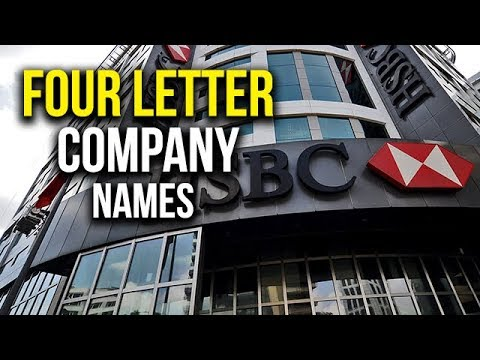 top 5 best four letter company names youtube