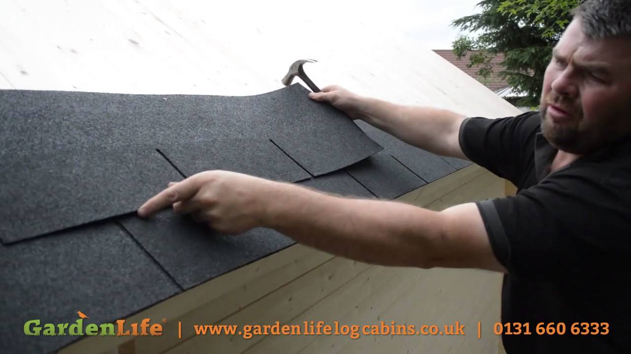 How To Add Roof Shingles To A Summer House Youtube