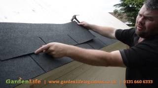 كيفية إضافة ألواح السقف إلى منزل صيفي