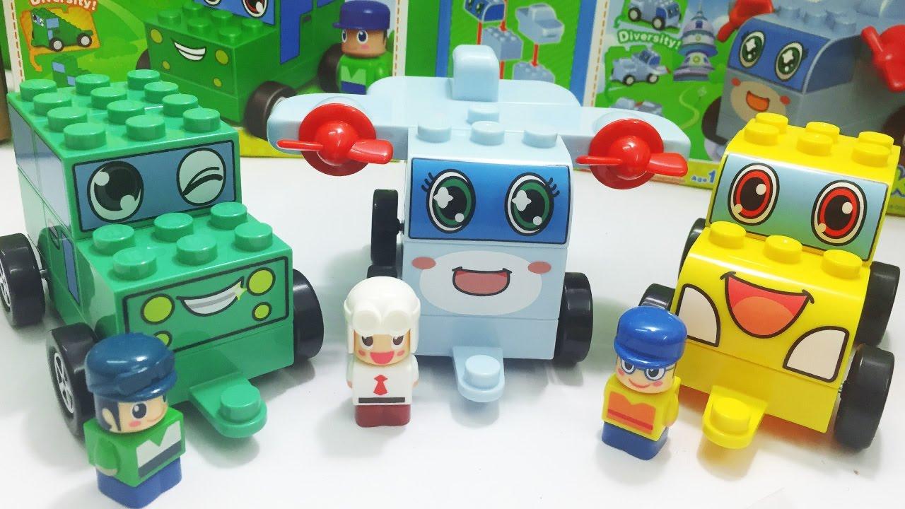 Lắp ráp LEGO CHICHI LAND đội xe biến hình, phim hoạt hình CHICHI LAND (Chim Xinh)