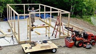One Man Builds Post and Beam Barn Kit Bought off the INTERNET