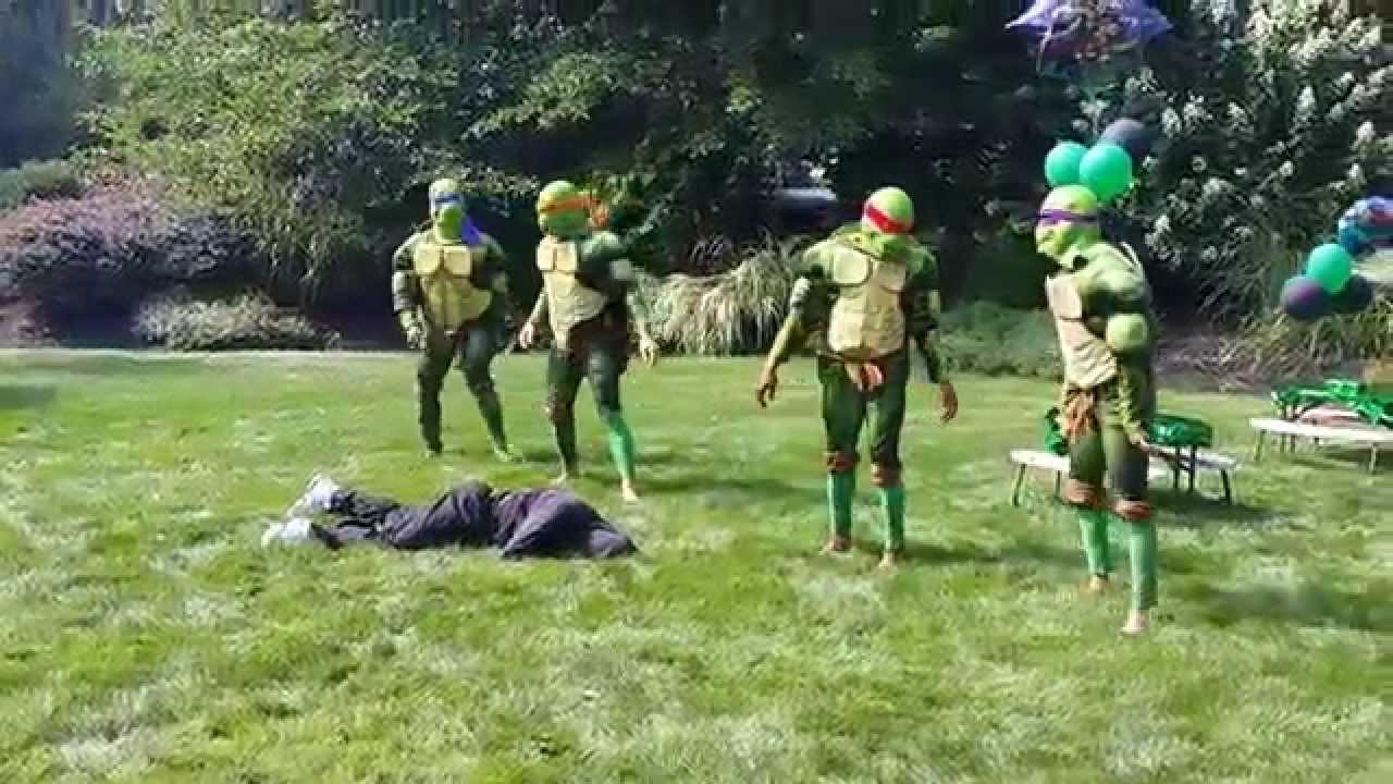 Gmail ninja theme - Ninja Fighting Turtles Themed Birthday Party Actors Nyc Nj Ct Costumed Ninja Turtle Actors Youtube
