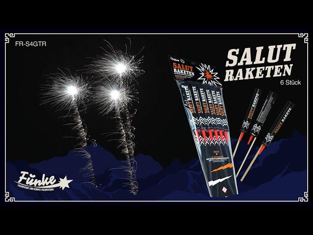 Salut-Raketen mit Silbercracker-Schweifaufstieg - CE F2 [Batch 2020]
