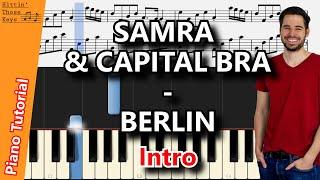 SAMRA & CAPITAL BRA - BERLIN | Piano Tutorial | Intro | German