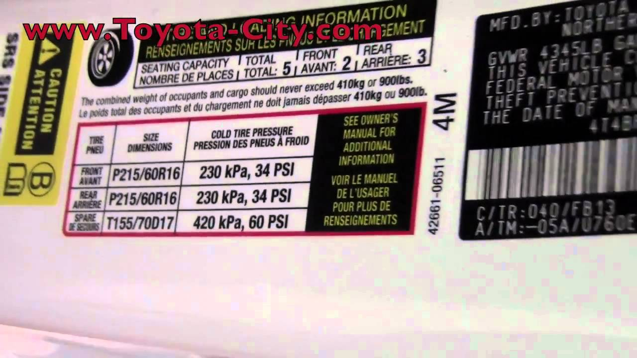 2011 toyota camry tire pressure how to by toyota minneapolis mn you. Black Bedroom Furniture Sets. Home Design Ideas