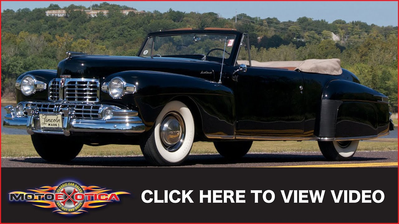 1942 Lincoln Continental Cabriolet (SOLD) - YouTube