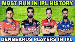Top 10 Ipl highest score batsman|Most run in Ipl | Ipl highest run scorer in all seasons..