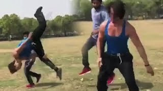 RAMBO Tiger Shroff Stunts Practice