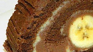 Торт Шоколадно-Банановый видео рецепт(Воздушный какао-бисквит, ванильный и шоколадный крем, и банановая серединка… Это настолько вкусно, что..., 2015-02-20T05:00:30.000Z)