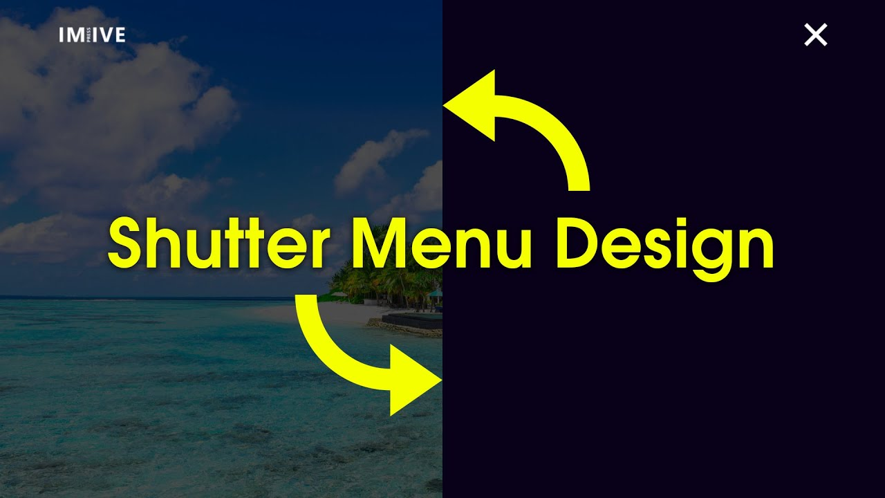 How To Make Shutter Menu On Website Using HTML CSS And JS In Hindi