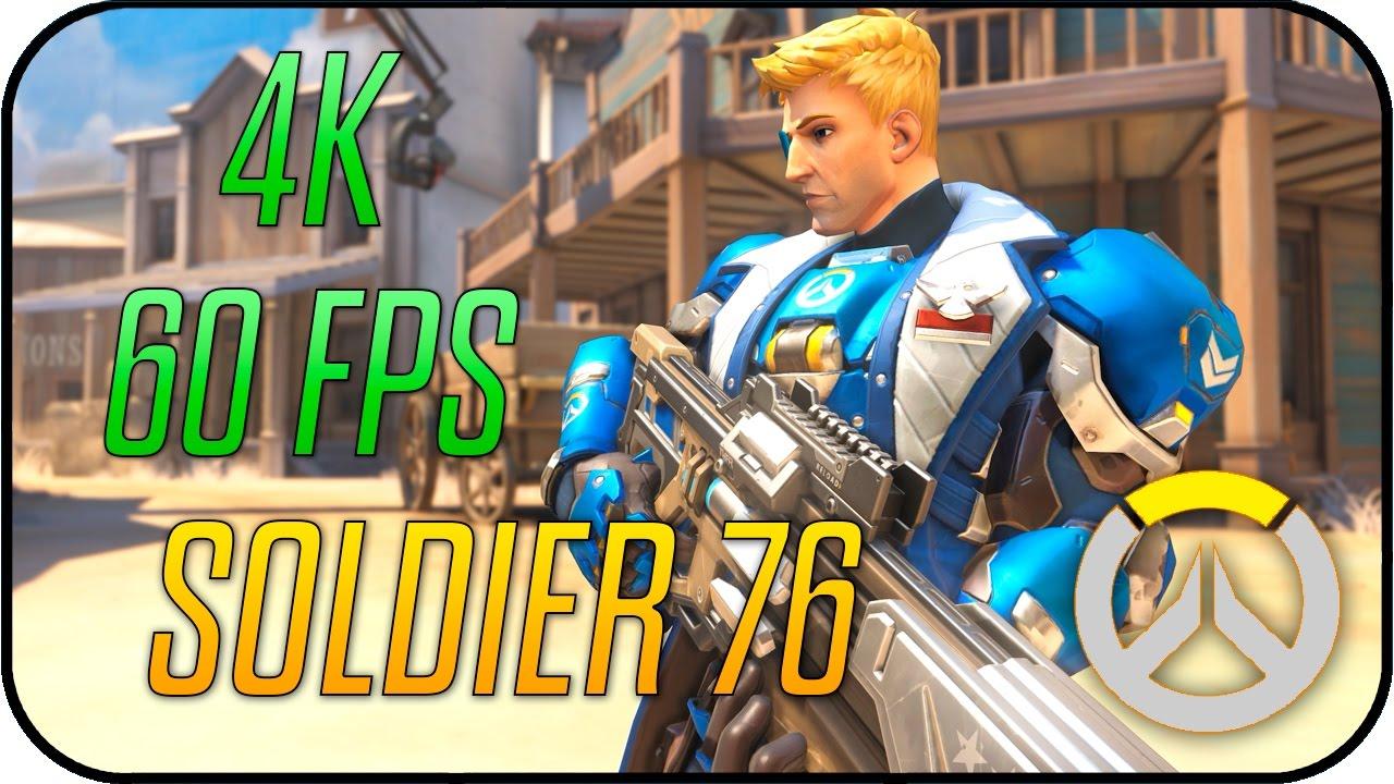 Overwatch - Strike Commander Morrison (Soldier 76) - Animated Desktop  Wallpaper 4K 60fps
