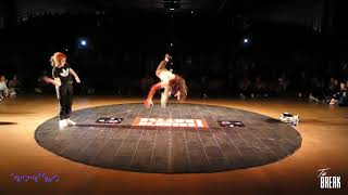 Rillieux Break'in Battle BGIRL KIMIE VS BBOY TAZ 1/2 finale kids