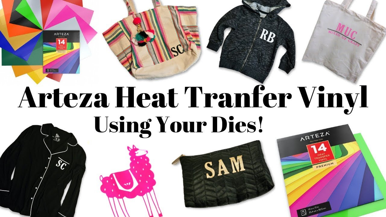 Arteza Heat Transfer Vinyl Awesome Arteza Heat Transfer Vinyl Using Your Dies