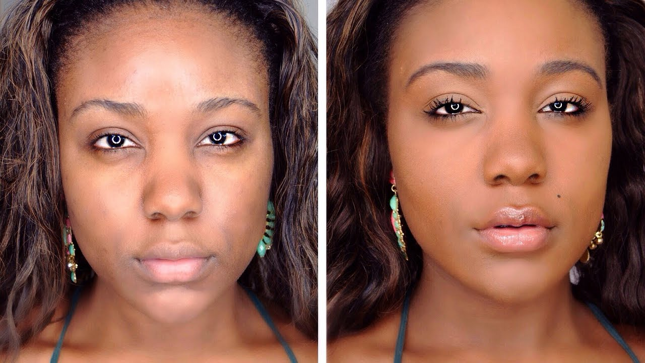 HOW TO: Flawless Natural Makeup Tutorial - Beginners Make-up Tips & Tricks  for Black Women 11