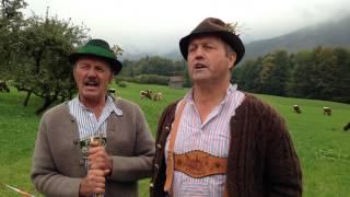 Luisei und Wasti singen ein Lieb zum Almabtrieb in Ramsau/Berchtesgaden