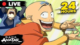 🔴 LIVE: 24 Hours with Aang! 🌪 | Avatar: The Last Airbender