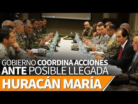 Gobierno Coordina Acciones Ante Posible Llegada De Huracán María