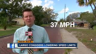 Largo City Council considers lowering speed limits on residential streets