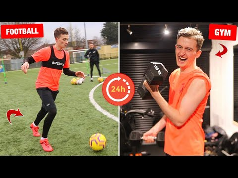 I trained like a PRO FOOTBALLER for 24 HOURS! (Very bad idea...)