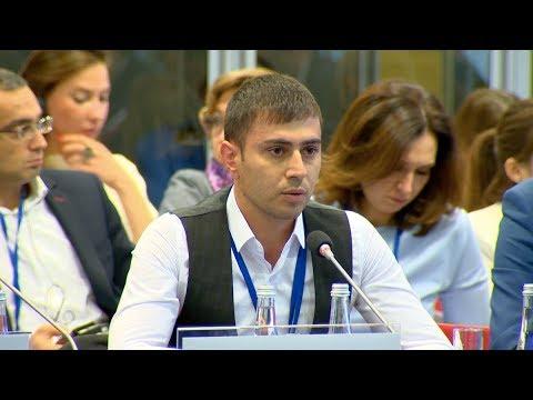 Dilgam Asgarov's son spoke at the OSCE Warsaw Meeting | CBC Azerbaijan Television