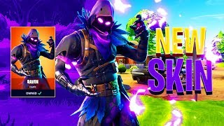 "LEGENDARY ""RAVEN"" OUTFIT SKIN GAMEPLAY in Fortnite: Battle Royale"