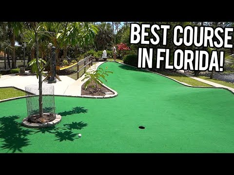THE BEST MINI GOLF COURSE IN FLORIDA! - CRAZY AND UNIQUE HOLES!