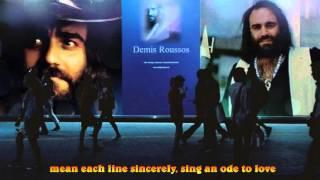 Смотреть клип песни: Demis Roussos - Sing An Ode To Love