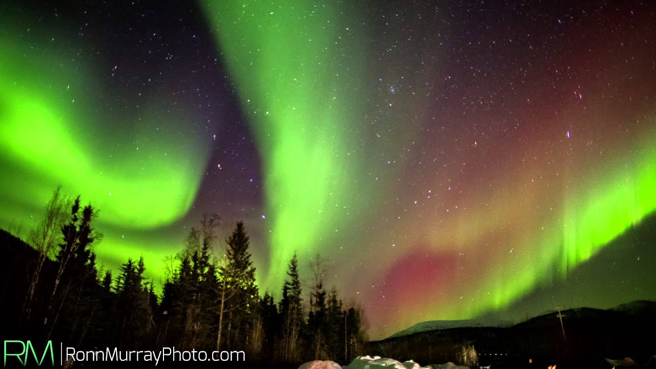 Alaska S Epic Northern Lights Colorful Aurora Borealis Youtube