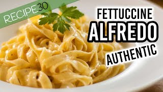 Authentic Fettuccine Alfredo only 3 ingredients