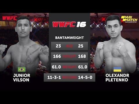 ALEXANDER PLETENKO - VILSON JUNIOR: Title fight WWFC 16