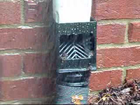 Gutter Downspout Drainage System When Having Water