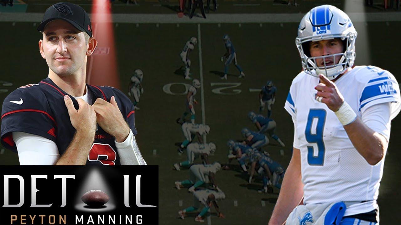 Peyton Manning Analyzes Matt Stafford's & Josh Rosen's Pre-snap Reads