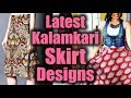 Modern Kalamkari Skirts | Kalamkari block Printed Skirts Designs | Kalamkari Skirt Model