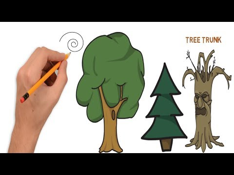 How to Draw Tree – Teach Drawing for Kids – YouTube Video  for Kids