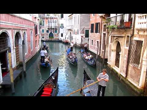 VENICE GONDOLA RIDE ON GRAND CANAL in Venezia, Italy