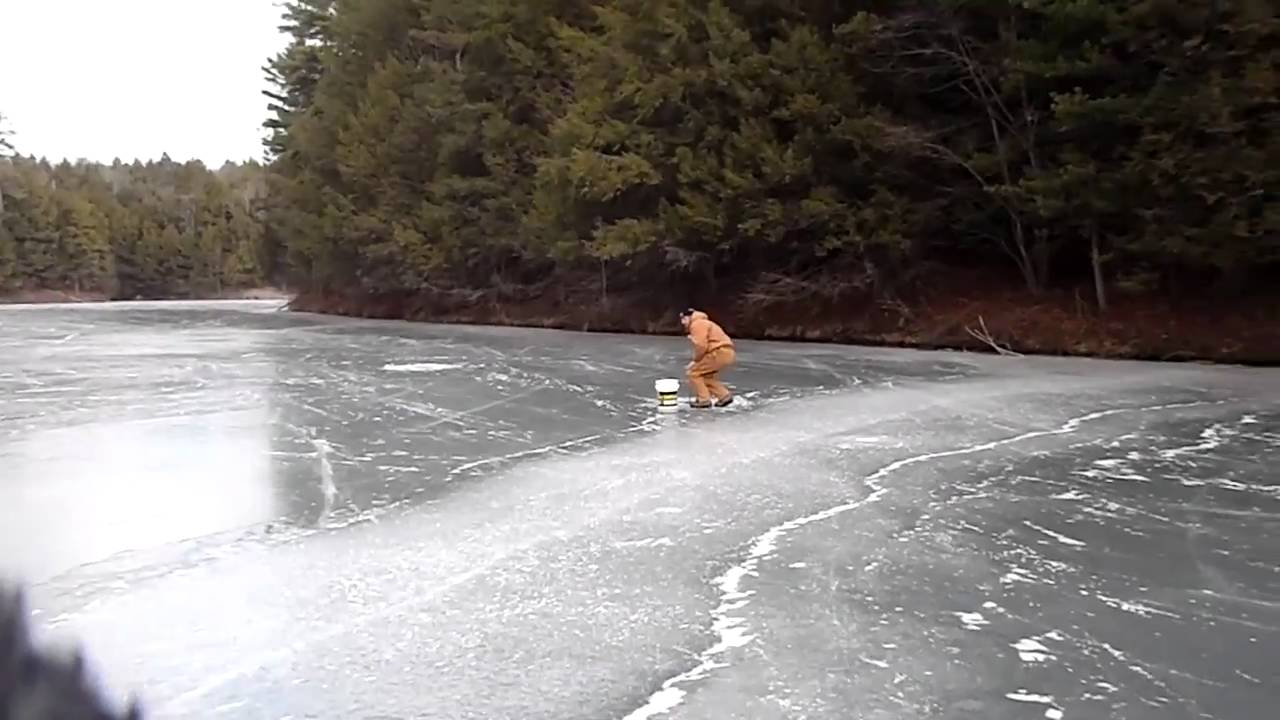 Ice fishing beltzville 2010 11 season youtube for Pa out of state fishing license