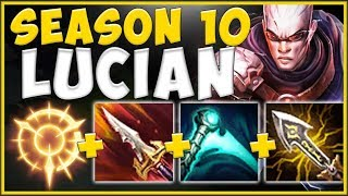 WTF! NEW SEASON 10 ITEMS MADE LUCIAN TOP 100% ABSURD! LUCIAN SEASON 10 GAMEPLAY! - League of Legends