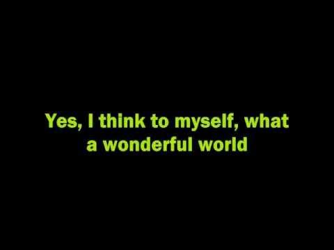KARAOKE - What a wonderful world (Joey Ramone)