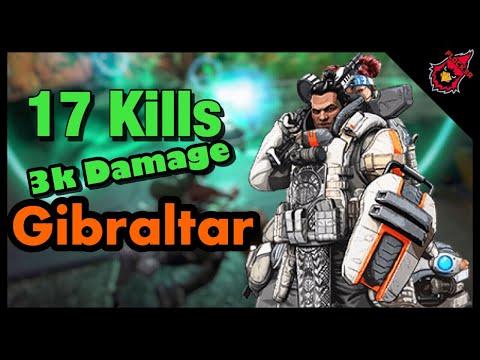 17 Kills Over 3k Damage Using Gibraltar (Apex Legends PS4)