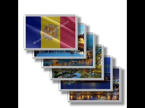 AD - Travel in Andorra - rectangular magnets and souvenirs