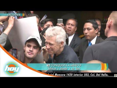 Integrantes de U2 firmaron autógrafos a fans mexicanos  | Hoy