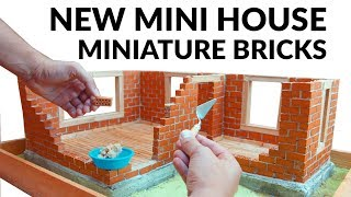bRICKLAYING - MINI HOUSE - CONCRETE BRICK WALL